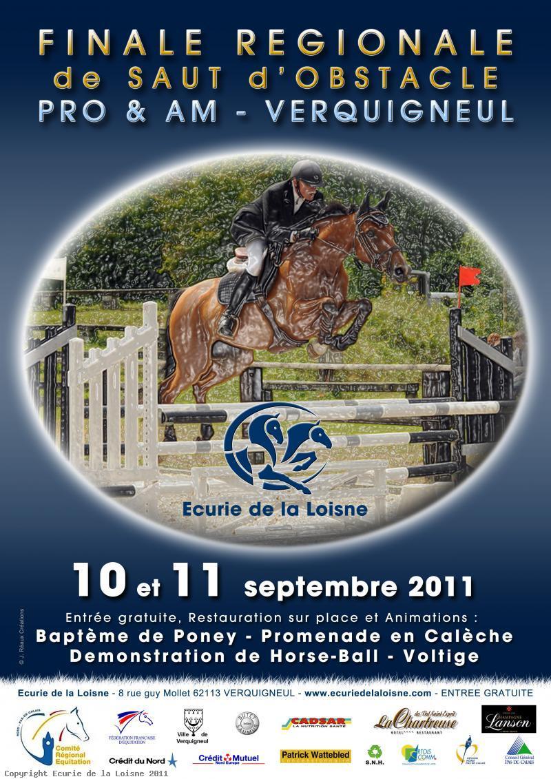 10-11 sept. 2011 - Résultats Finale Régionale de Saut d'Obstacle AM et PRO